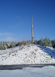Ferro's Cross with snow