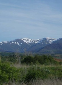 Montes Alquilanos with snow (Ponferrada)
