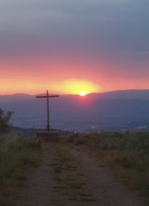 Sunset at the Cruz de las Eras (El Acebo)