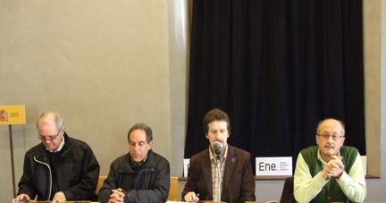 Antolín de Cela, Miguel Ángel, Roger De La Cruz y Rafael Canseco ayer en la presentación. DL